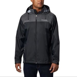 Columbia Black and Grey Men's Rain Windbreaker